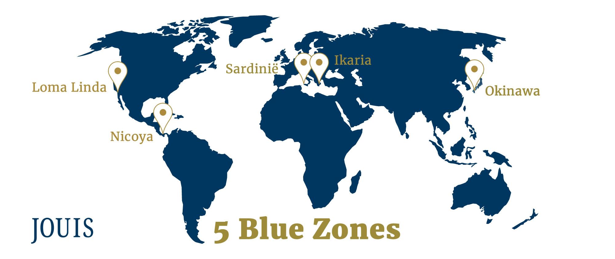 wereldkaart 5 blue zones